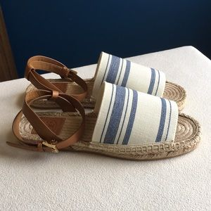 Never worn Tory Burch espadrille sandals size 8